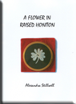 A flower in raised honiton